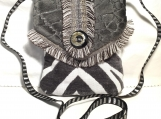 Gray Zebra Cross Body Bag