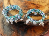 Mother/Daughter Beach Theme Memory Wire Bracelets