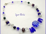 Holiday SALE! Cobalt blue beaded choker