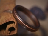 Santos Rosewood Wooden Ring with Copper Inlay