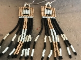 Seed Bead Earrings Hand Woven