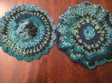 Set of 2, Crochet Doilies