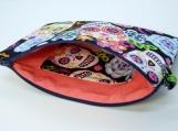 Sugar Skull wristlet clutch purse with detachable wrist strap