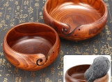 Super Practical Wooden Yarn Bowls for Knitting  Natural Wood Pro