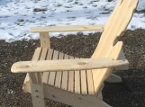 The Contour II Michigan Adirondack White Pine Chair