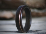 Wood Ring - Bentwood - Copper Inlay - Lapacho - Mens  -Womens - Wedding - Wooden - Anniversary - Engagement
