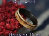 Wood Ring - Bentwood Karelian Birch Ring with Ziricote Liner and