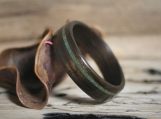 Wood Ring - Jade - Bentwood - Fumed Eucalyptus - Wooden Wedding Band - Engagement - Anniversary - Mens - Womens