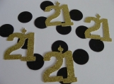 21st Birthday Confetti, Party Decorations, Scrapbooking, Die Cut