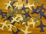 Airplane confetti, birthday confetti, scrapbooking