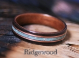 Bentwood Ring- East Indian Rosewood with Makore Liner