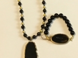 Black & Gold Agate Set