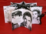 Black and White Stars Book, a hand-bound artist book of black and white movie stars, star book