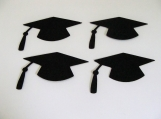 Black Graduation Hats Die Cuts