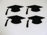 Black Graduation Hats Die Cuts