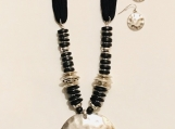 Black Suede Necklace Set