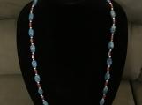 Blue & Burgundy Necklace Set