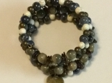 Blue & Cream Bracelet