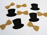 Bow Ties and Top Hats Confetti, Wedding Party Decor