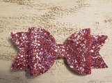 Bubble Gum Pink Glitter Bow