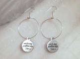 Engraved Christian scripture bible verse hoop earrings in steel