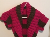 Collared Shrug - Pink and Brown