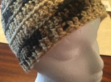 Crochet Adult Hat (Multi-Colored Brown)-includes a free gift