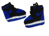 Crochet booties, Crochet baby shoes BLUE