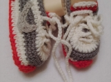 Crochet booties Sneakers, Crochet baby shoes