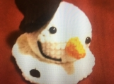 Crochet Melting Snowman