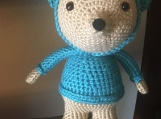 Crochet Teddy Bear with Hood and Sweater