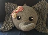 Crocheted Elephant Pillow