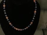 Cute Dark Purple & Orange Necklace Set