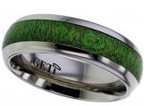 Dome Titanium Ring Maple Wood