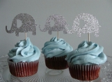 Elephant Cupcake Toppers, Baby Shower Decorations