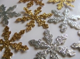 Gold and Silver Snowflake confetti, Christmas Party Decor