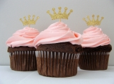 Gold Crown Cupcake Toppers