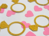 Gold Ring Confetti, Wedding Table Decor