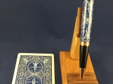 Handmade Real Playing Card Pen , Genuine Bicycle Card In Resin, Magic,Poker Gift, Tru Card Pen, Man Gift, Fathers Day