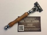 Handmade Scotch Whisky Barrel Mach 3 Razor Handle, Whisky Gift made in Scotland, 5th Anniversary, Best Man Groom Gift, Engraving Option