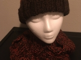 Hat Scarf Set - Chocolate/Rust
