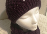 Hat Scarf Set - Deep Purple
