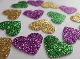 Heart Confetti. MardiGras Party Decorations. Birthday Decoration