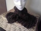 Keyhole Scarf - Brown/Green Tweed