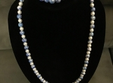 Marble Blue & White Necklace