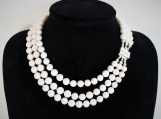 Elegant Necklace Organic Pearls
