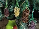 """Pine cone"" handmade beadwork"