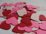 Pink and Red Heart Confetti, Wedding Table Decor, Party Decor