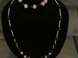 Purple & Black Necklace Set