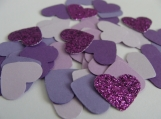 Purple Heart Confetti. Wedding Decor. Birthday Party Decor
